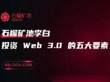 石榴矿池李白:投资 Web 3.0 的五大要素