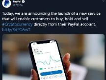 支付巨头PayPal推出加密货币服务,新时代来了
