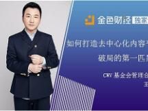 专访CWV基金会管理合伙人王小彬:如何打造去中心化内容平台破局的第一匹黑马