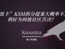 """""""小波卡""""KSM拆分提案大概率不通过,利好为何被社区否决?"""
